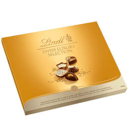 Lindt SWISS LUXURY SELECTION Assorted Chocolate Pralines Gift Box, 415 Grams