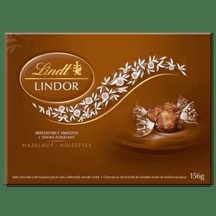 Lindt LINDOR Hazelnut Milk Chocolate Truffles Box 156g