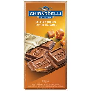 GHIRARDELLI Caramel Milk Chocolate Bar 100g