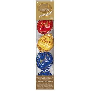 Truffes à suspendre LINDOR assorties au chocolat de Lindt– Boîte (60g)
