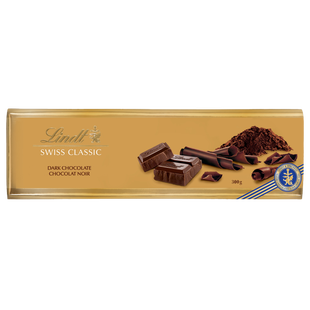 Lindt SWISS CLASSIC Gold Surfin Dark Chocolate Bar 300g