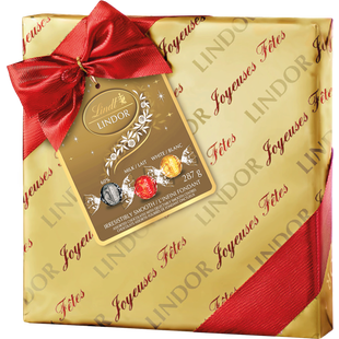 Truffes LINDOR assorties au chocolat de Lindt– Boîte-cadeau (287g)
