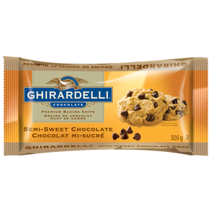 GHIRARDELLI Semi Sweet Chocolate Baking Chips Bag 326g