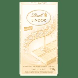 Lindt LINDOR White Chocolate Bar, 100 Grams