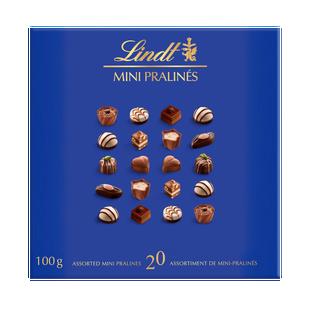Lindt Mini Pralines Assorted Chocolate Pralines Box, 100g