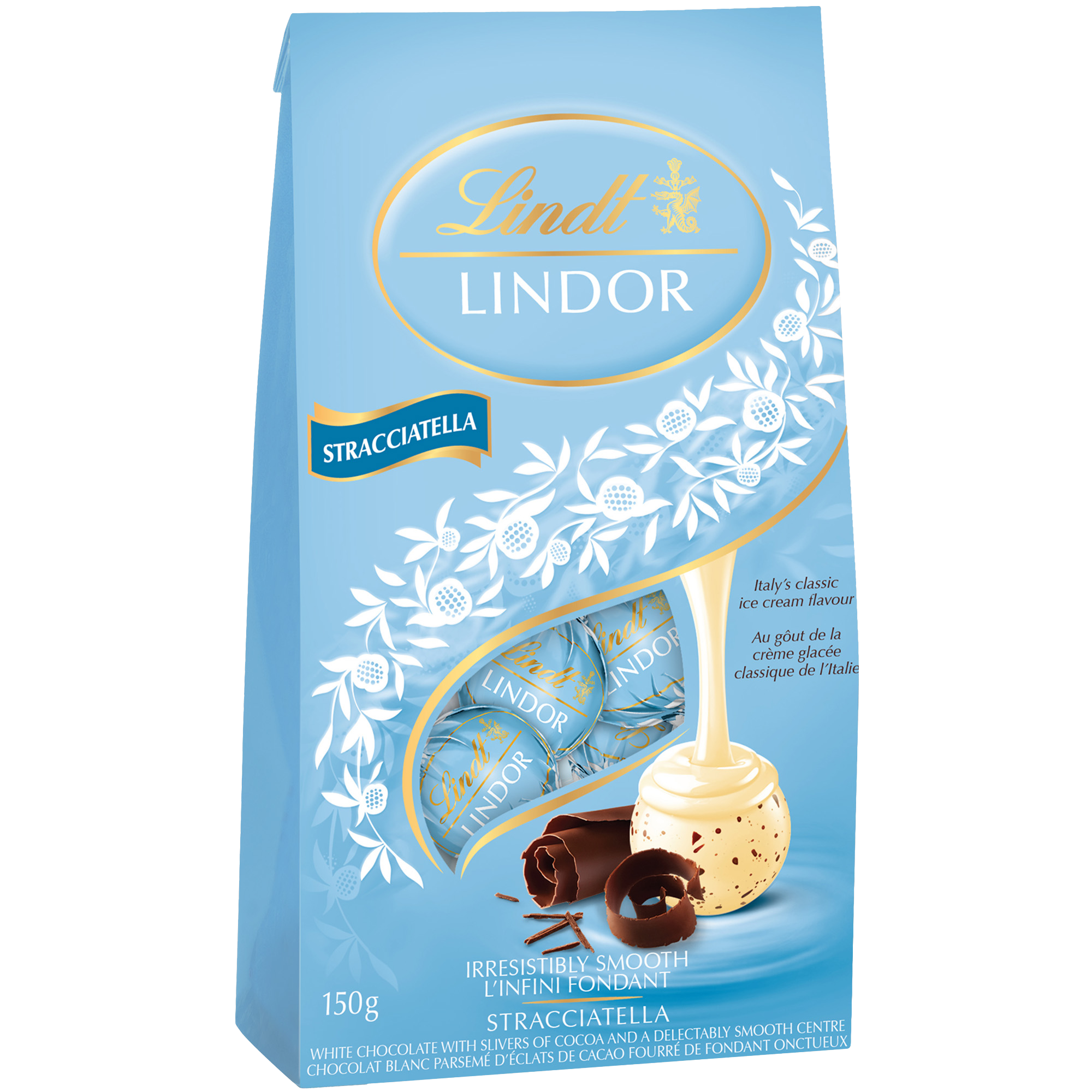 Truffes LINDOR Stracciatella au chocolat blanc de Lindt – Sachet (150 g)