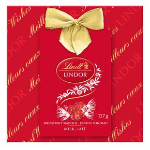 Truffes LINDOR au chocolat au lait de Lindt– Boîte-cadeau (137g)