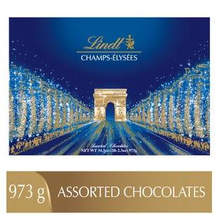 Chocolats assortis Lindt CHAMPS-ÉLYSÉES – Boîte-cadeau (973 g)