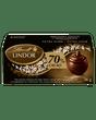 Lindt LINDOR 70% Cacao Dark Chocolate Box, 3-Pack 36g