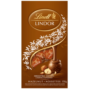 Lindt LINDOR Hazelnut Milk Chocolate Truffles, 150-Gram Bag