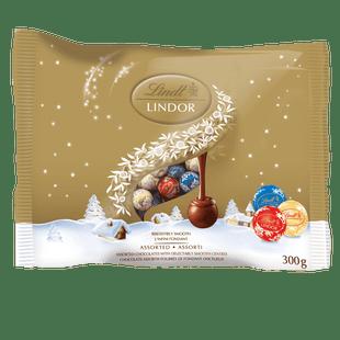 Lindt LINDOR Assorted Chocolate Mini Balls, 300-Gram Bag