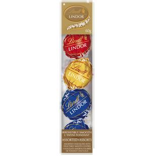 Lindt LINDOR Assorted Chocolate Truffle Ornaments, 60-Gram Box