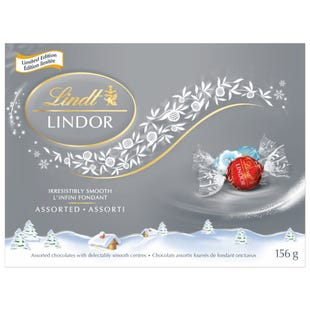 Truffes LINDOR assorties de Lindt – Édition limitée – Boîte-cadeau (156 g)