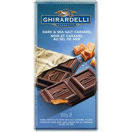 GHIRARDELLI Sea Salt and Caramel Dark Chocolate Bar 100g