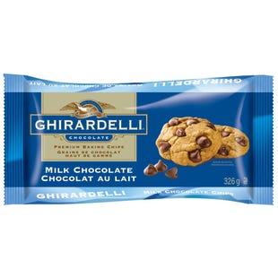 GHIRARDELLI Milk Chocolate Baking Chips Bag 326g