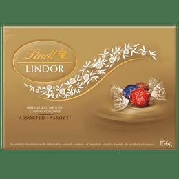 Lindt LINDOR Assorted Milk and Dark Chocolate Truffles, 156-Gram Box