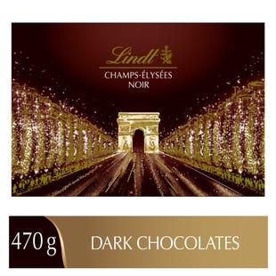 Chocolats noirs assortis Lindt CHAMPS-ÉLYSÉES – Boîte-cadeau (470 g)