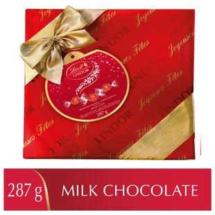 Truffes LINDOR au chocolat au lait de Lindt– Boîte-cadeau (287g)