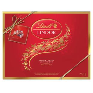 Truffes LINDOR Prestige au chocolat au lait de Lindt – Boîte-cadeau (250 g)
