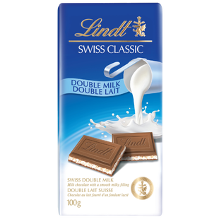 Lindt SWISS CLASSIC Double Milk Chocolate Bar 100g