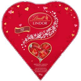 Lindt LINDOR Friendship Heart Milk Chocolate Truffles Box 96g