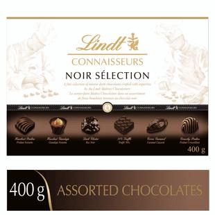 Lindt CONNAISSEURS NOIR SELECTION Assorted Dark Chocolates Gift Box 400g
