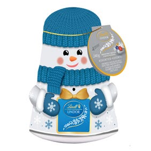 Lindt LINDOR Assorted Chocolate Truffles Snowman Wobble Tin