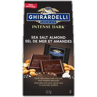 GHIRARDELLI Intense Sea Salt and Almond Dark Chocolate Bag 117g