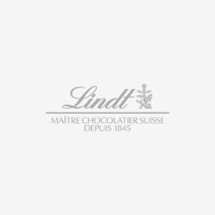 Lindt LINDOR Milk Chocolate Truffles Santa Wobble Tin, 240 Grams