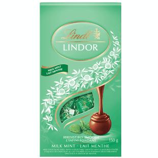 Lindt LINDOR Mint Milk Chocolate Truffles, 150-Gram Bag