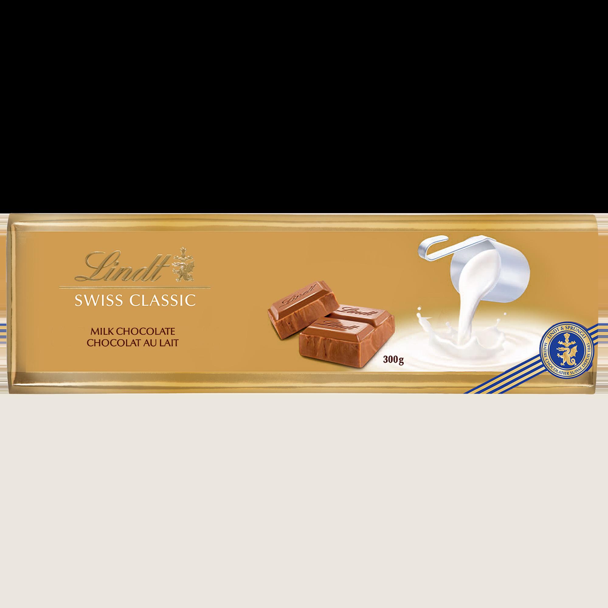 Chocolat au lait Lindt SWISS CLASSIC Gold – Barre 300 g