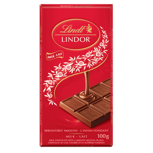 Lindt LINDOR Milk Chocolate Bar, 100 Grams