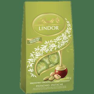 Lindt LINDOR Pistachio Milk Chocolate Truffles Bag 150g