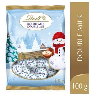 Mini-boules au chocolat double lait Magie de Noël de Lindt– Sachet (100g)