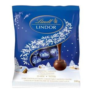 Lindt LINDOR Mini Dark Chocolate Balls, 100-Gram Bag