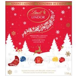 Chocolats assortis LINDOR de Lindt– Calendrier de l'avent (158g)