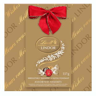 Truffes LINDOR assorties au chocolat de Lindt– Boîte-cadeau (137g)