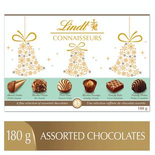 Lindt CONNAISSEURS Assorted Chocolates Gift Box 180g