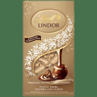 Lindt LINDOR Fudge Swirl Chocolate Truffles, 150-Gram Bag
