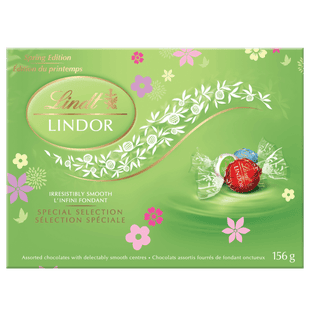 Truffes assorties au chocolat LINDOR Édition limitée Printemps de Lindt – Boîte de 156 g