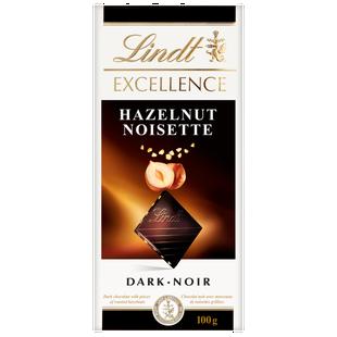 Lindt EXCELLENCE Roasted Hazelnut Dark Chocolate Bar, 100 Grams