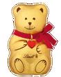 Lindt TEDDY Milk Chocolate Teddy Bear, 100 Grams