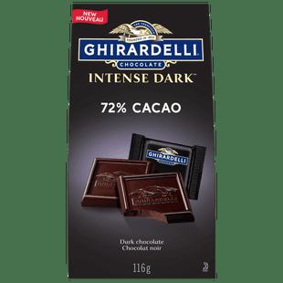 GHIRARDELLI Intense 72% Cacao Dark Chocolate Squares, 116-Gram Bag
