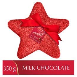 Lindt LINDOR Milk Chocolate Truffles Sequin Star Tin, 350 Grams