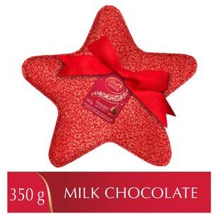 Truffes LINDOR au chocolat au lait de Lindt– Boîte en forme d'étoile à paillettes (350g)