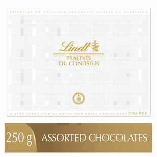 Lindt PRALINÉS DU CONFISEUR Assorted Chocolate Pralines Box 250g