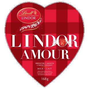 Lindt LINDOR AMOUR Milk Chocolate Truffles Box 168g