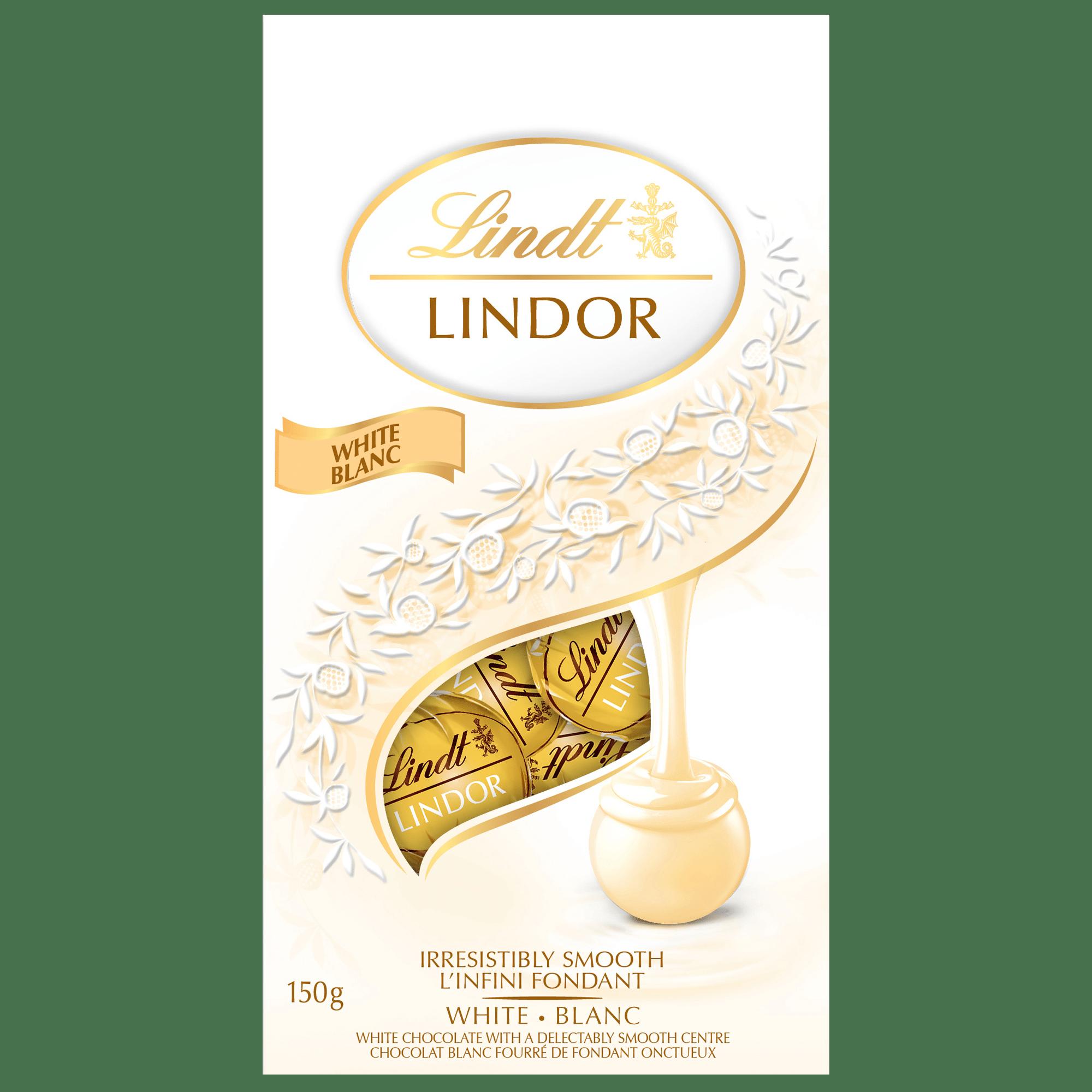 Truffes LINDOR au chocolat blanc de Lindt – Sachet (150 g)