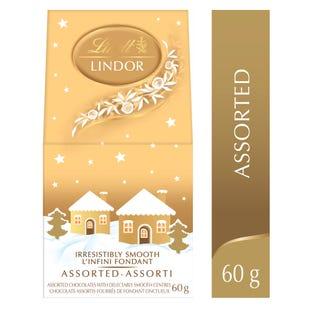 Lindt LINDOR Assorted Chocolate Truffles House Box 60g