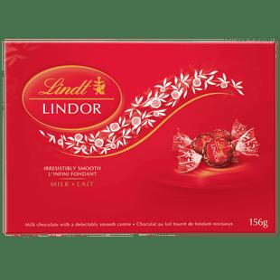 Lindt LINDOR Milk Chocolate Truffles, 156-Gram Box